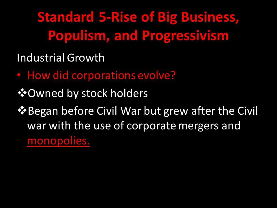 Standard 5-Rise of Big Business, Populism, and Progressivism