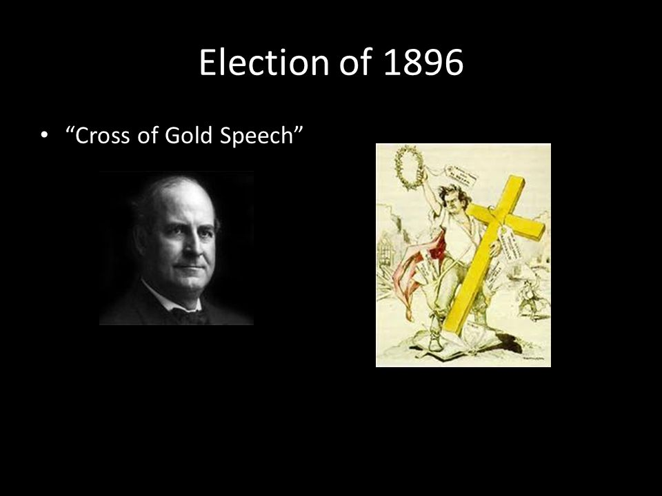 Election of 1896 Cross of Gold Speech