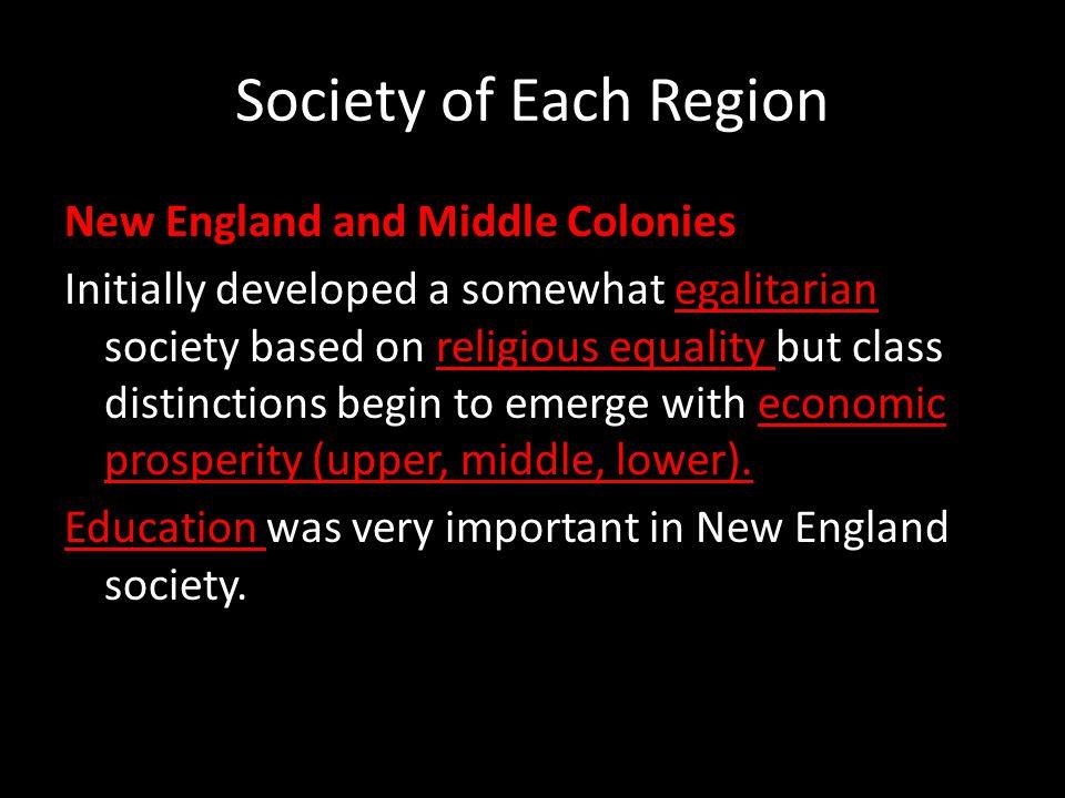 Society of Each Region