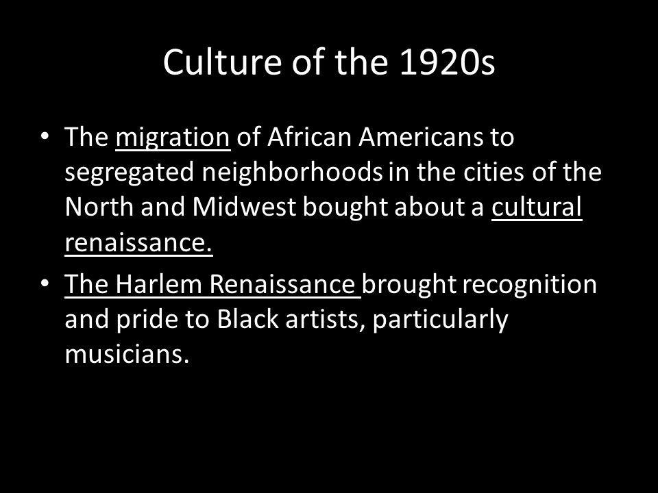 Culture of the 1920s