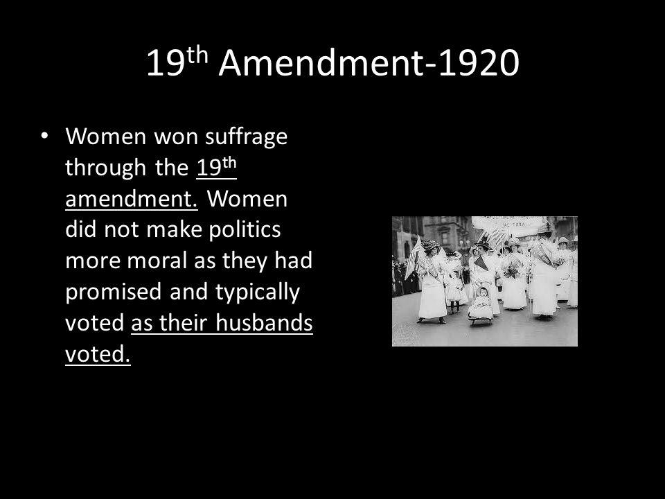 19th Amendment-1920