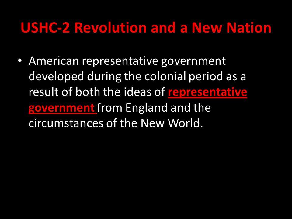 USHC-2 Revolution and a New Nation