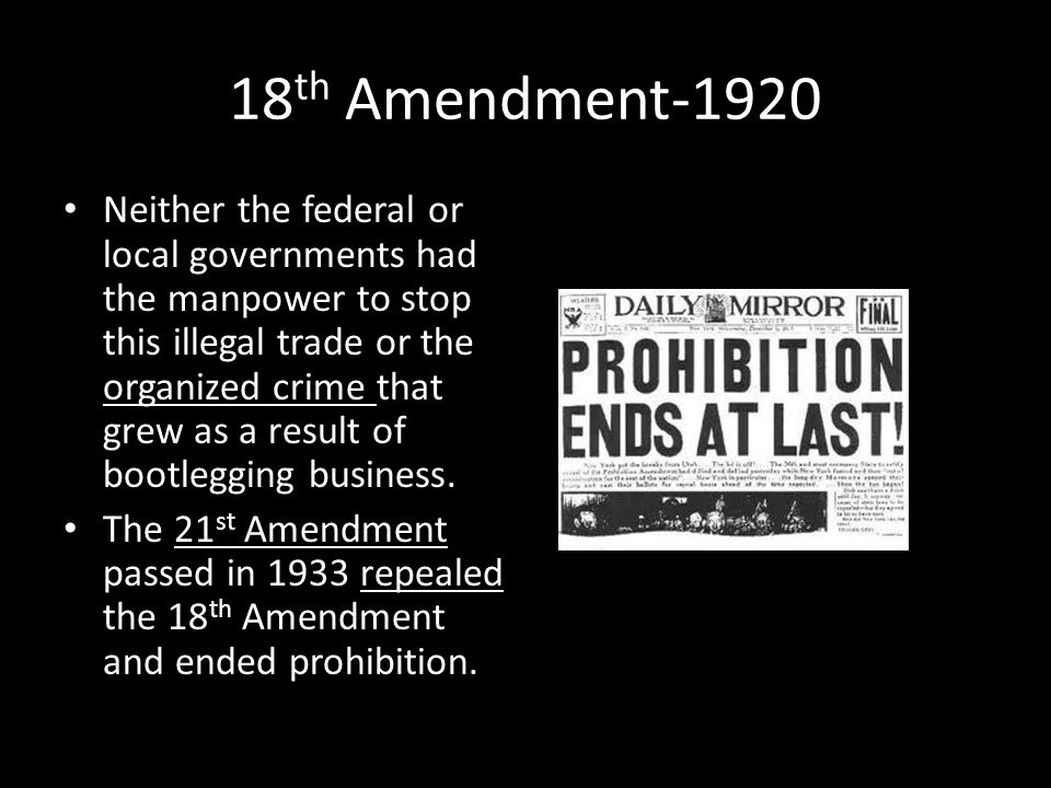 18th Amendment-1920