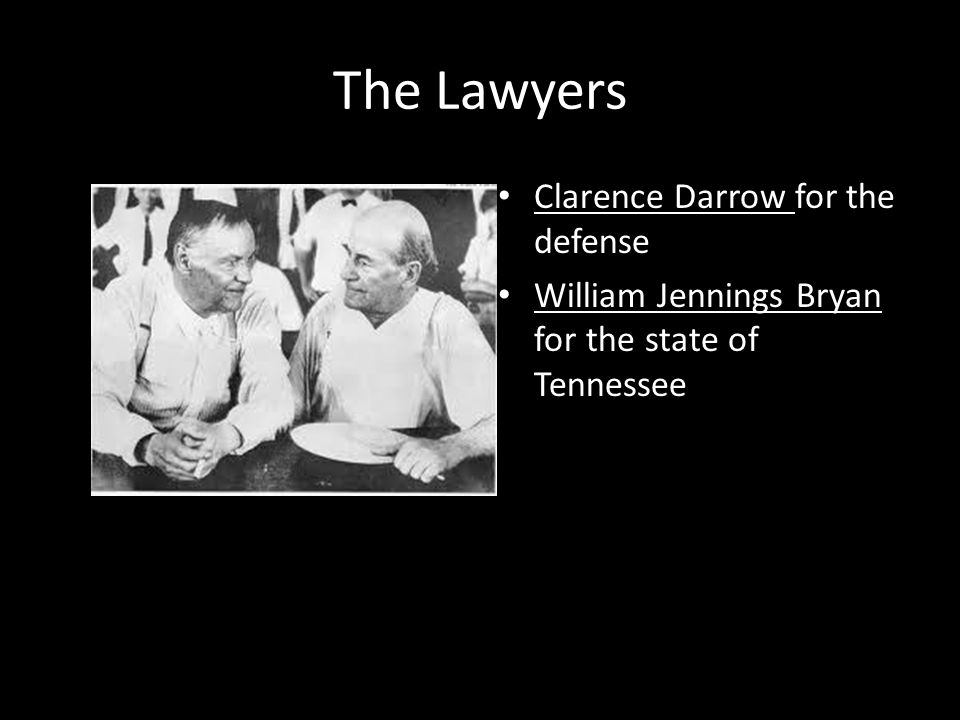 The Lawyers Clarence Darrow for the defense