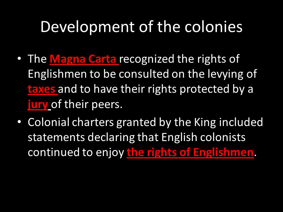 Development of the colonies