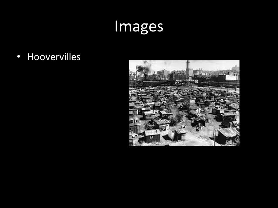 Images Hoovervilles
