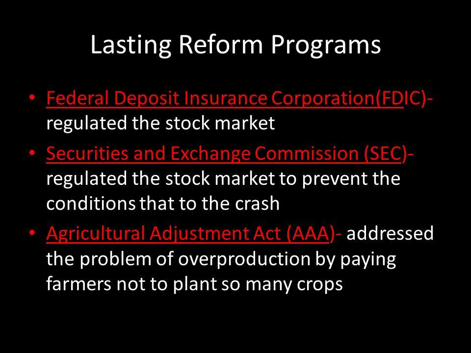 Lasting Reform Programs