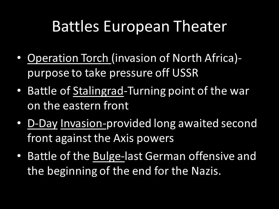 Battles European Theater