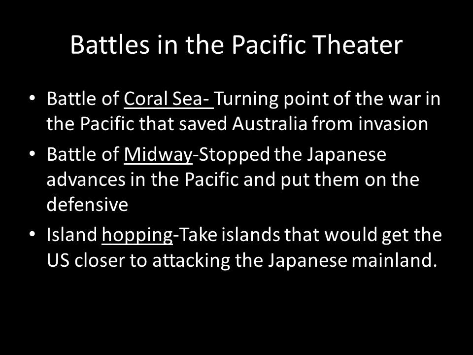 Battles in the Pacific Theater