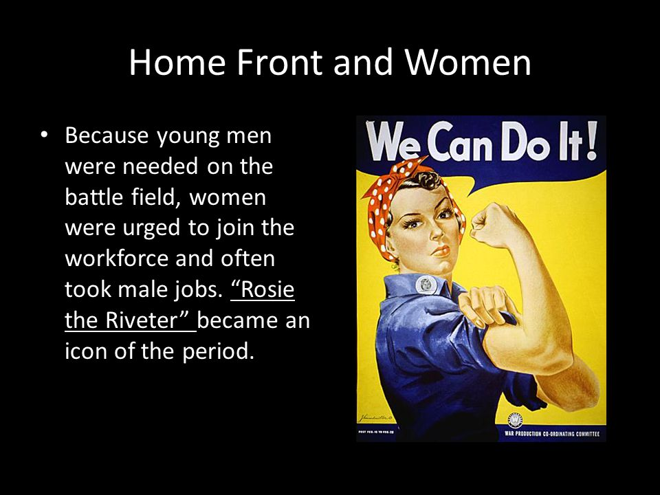 Home Front and Women