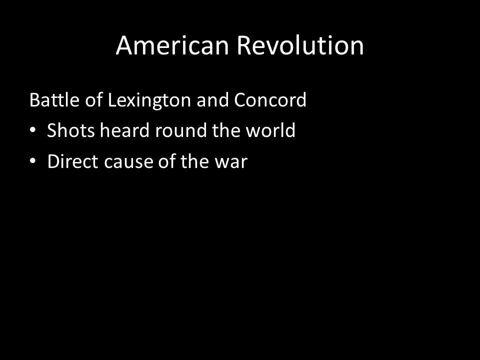 American Revolution Battle of Lexington and Concord