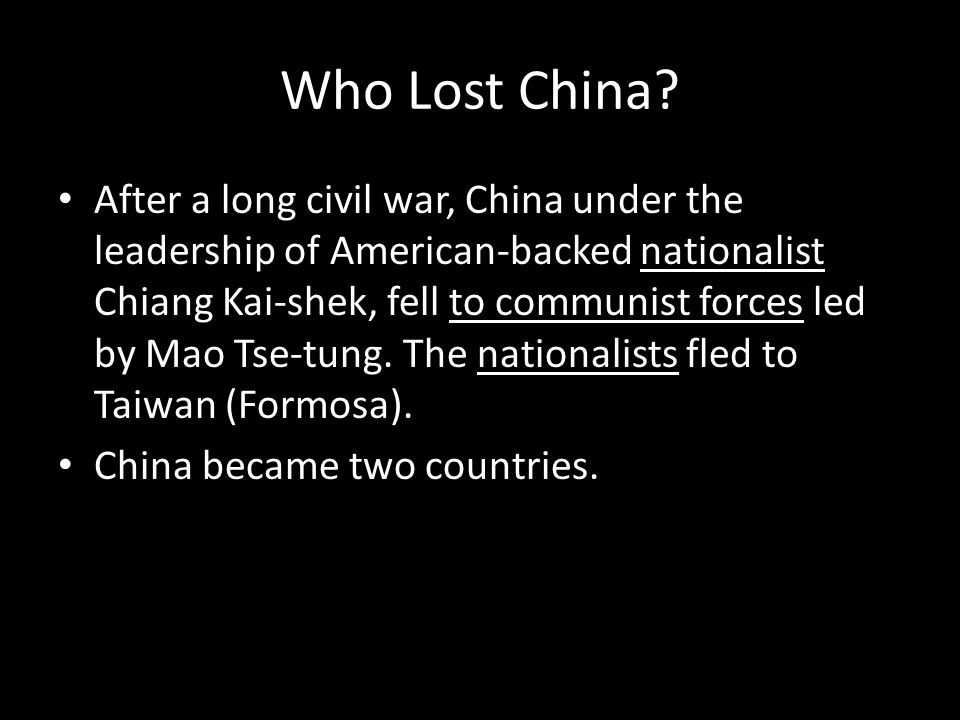 Who Lost China
