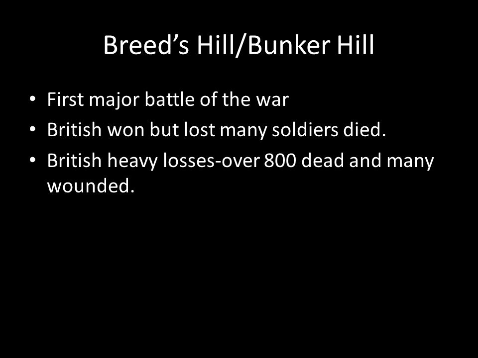 Breed's Hill/Bunker Hill