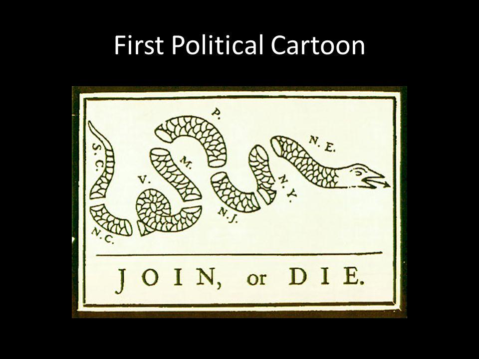 First Political Cartoon
