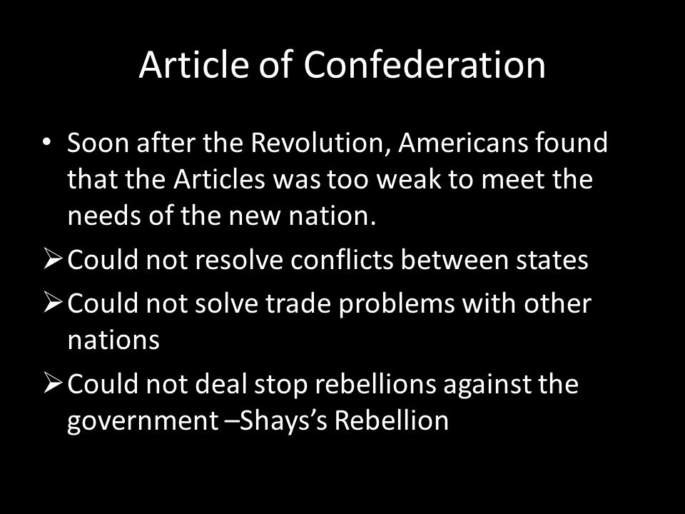 Article of Confederation