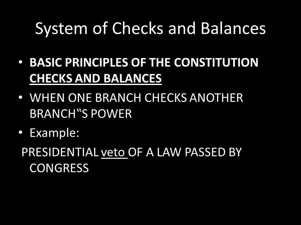 System of Checks and Balances