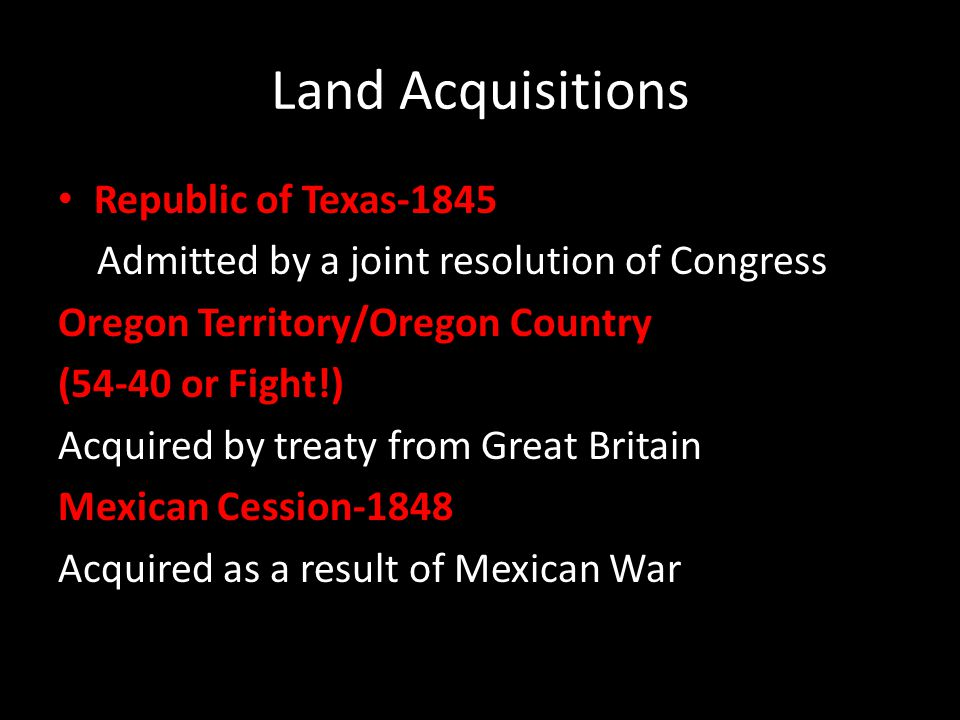 Land Acquisitions Republic of Texas-1845