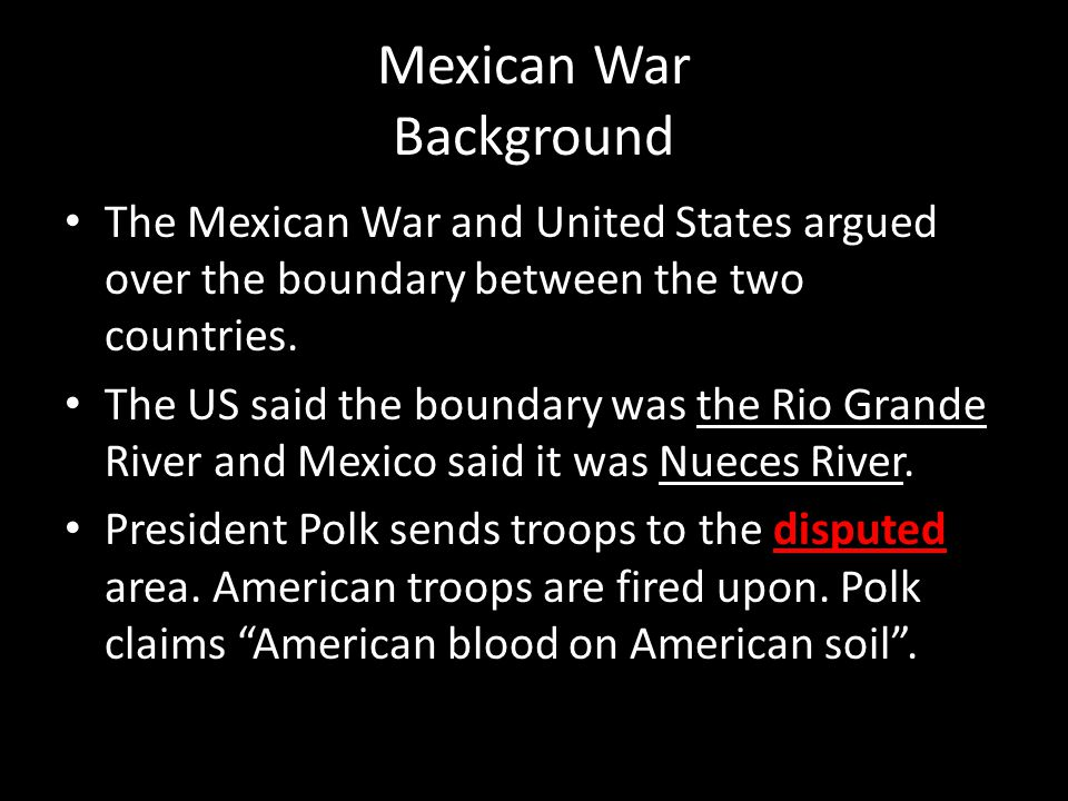 Mexican War Background