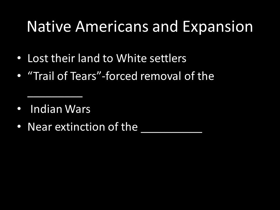 Native Americans and Expansion