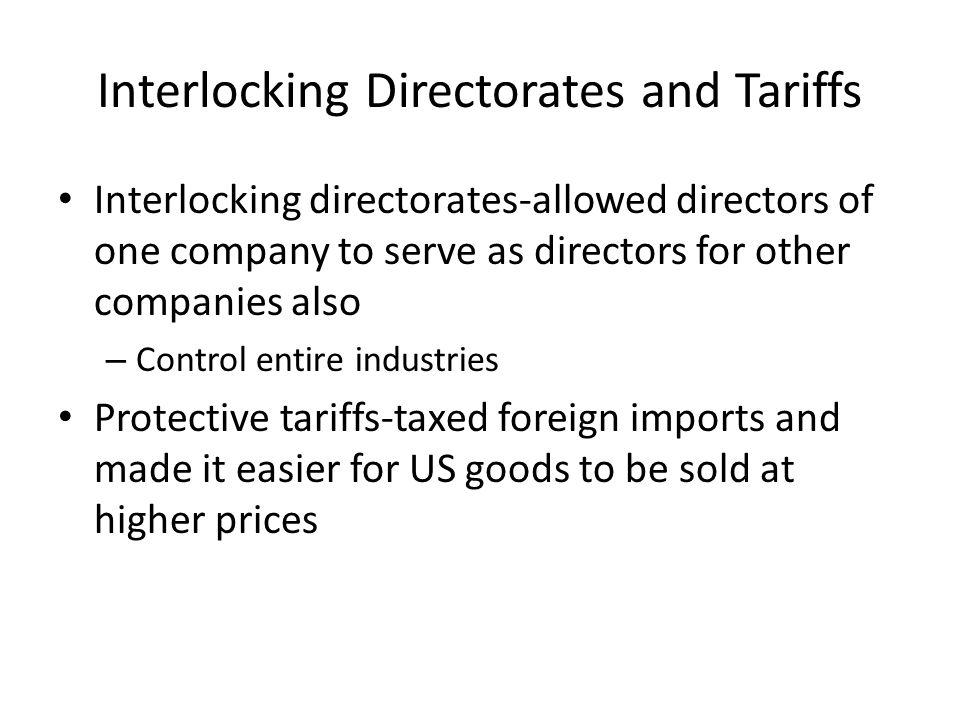 Interlocking Directorates and Tariffs