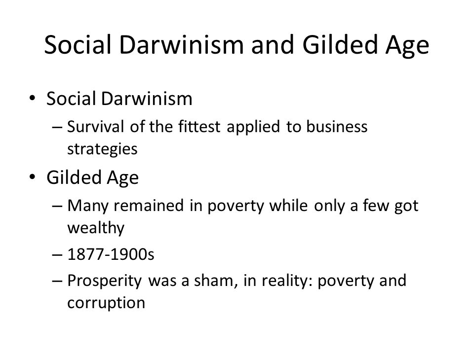 Social Darwinism and Gilded Age