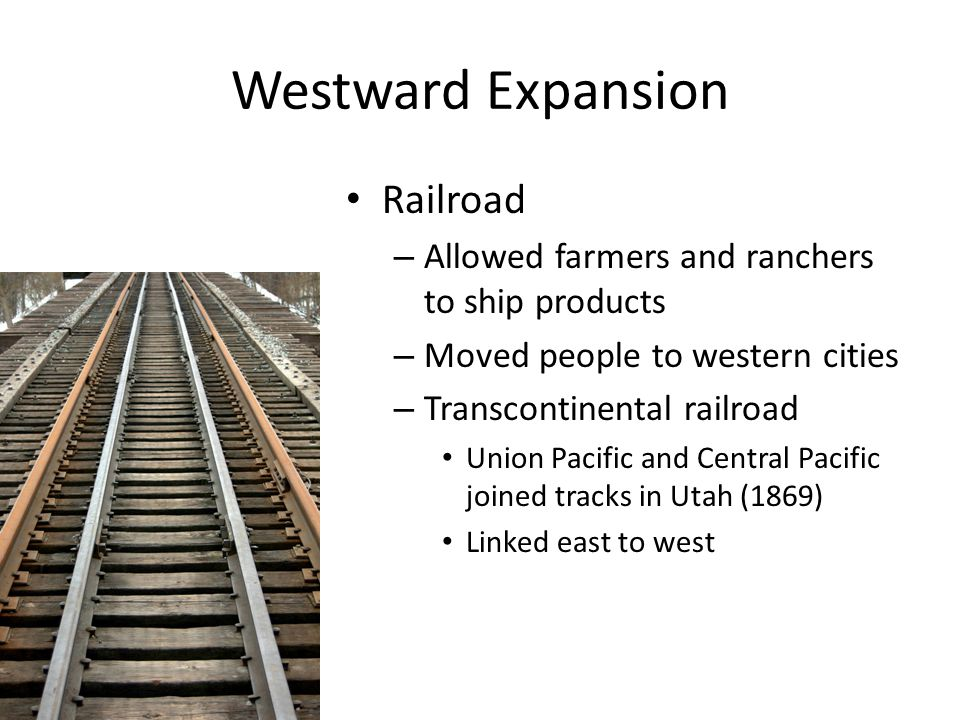 Westward Expansion Railroad