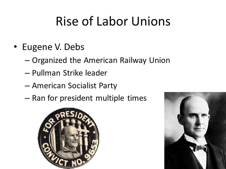 Rise of Labor Unions Eugene V. Debs