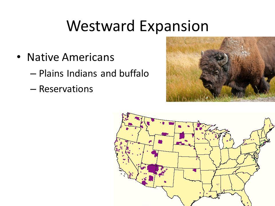 Westward Expansion Native Americans Plains Indians and buffalo
