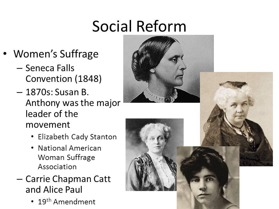 Social Reform Women's Suffrage Seneca Falls Convention (1848)