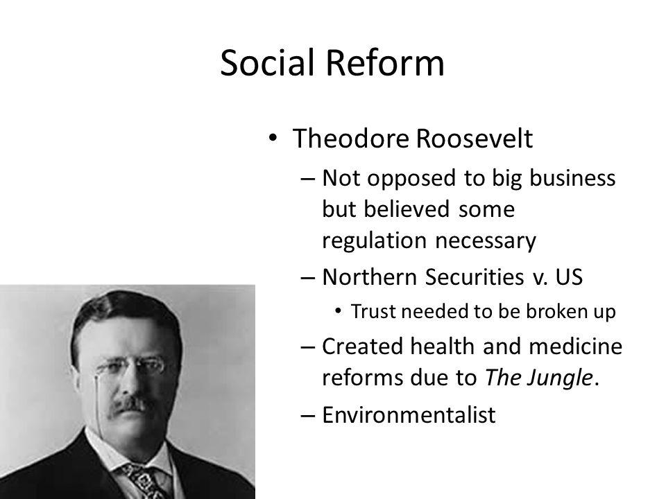 Social Reform Theodore Roosevelt