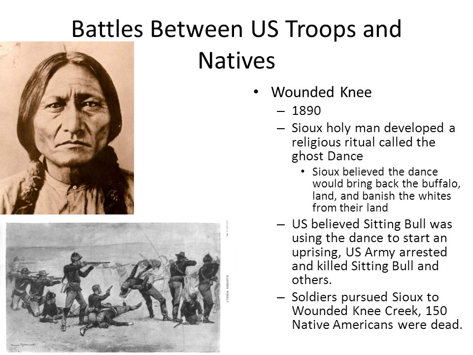 Battles Between US Troops and Natives