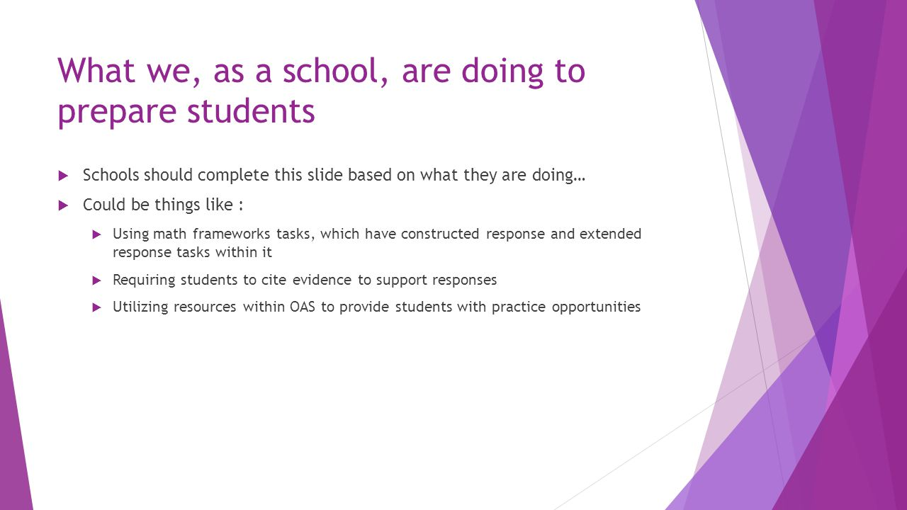 What we, as a school, are doing to prepare students