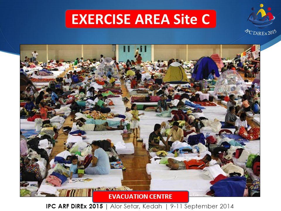 EXERCISE AREA Site C EVACUATION CENTRE