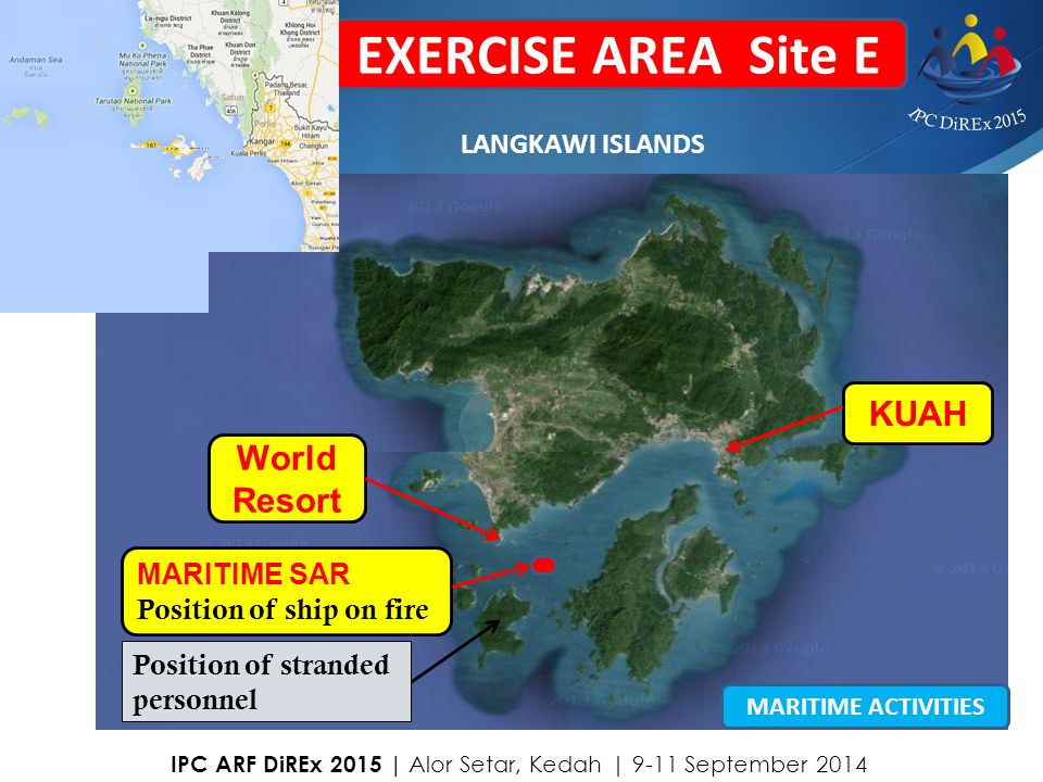 EXERCISE AREA Site E KUAH World Resort LANGKAWI ISLANDS