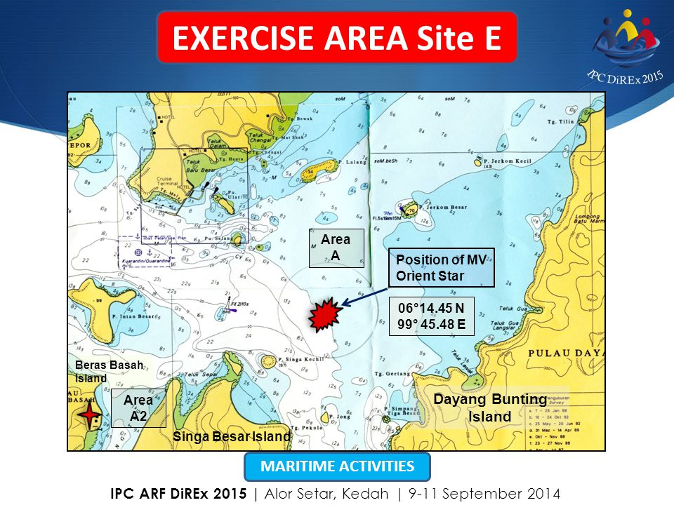 EXERCISE AREA Site E MARITIME ACTIVITIES Dayang Bunting Island