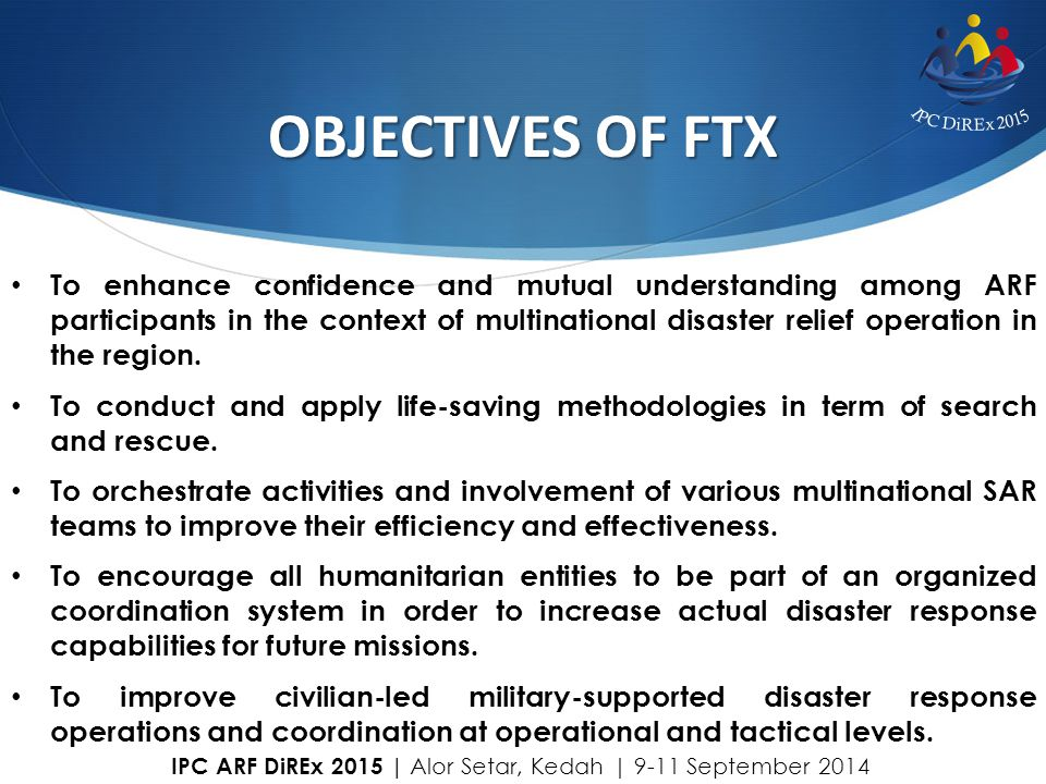 OBJECTIVES OF FTX
