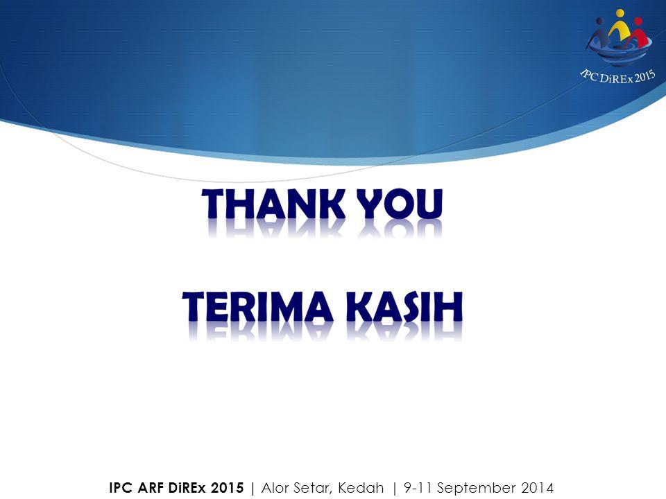 IPC ARF DiREx 2015 | Alor Setar, Kedah | 9-11 September 2014