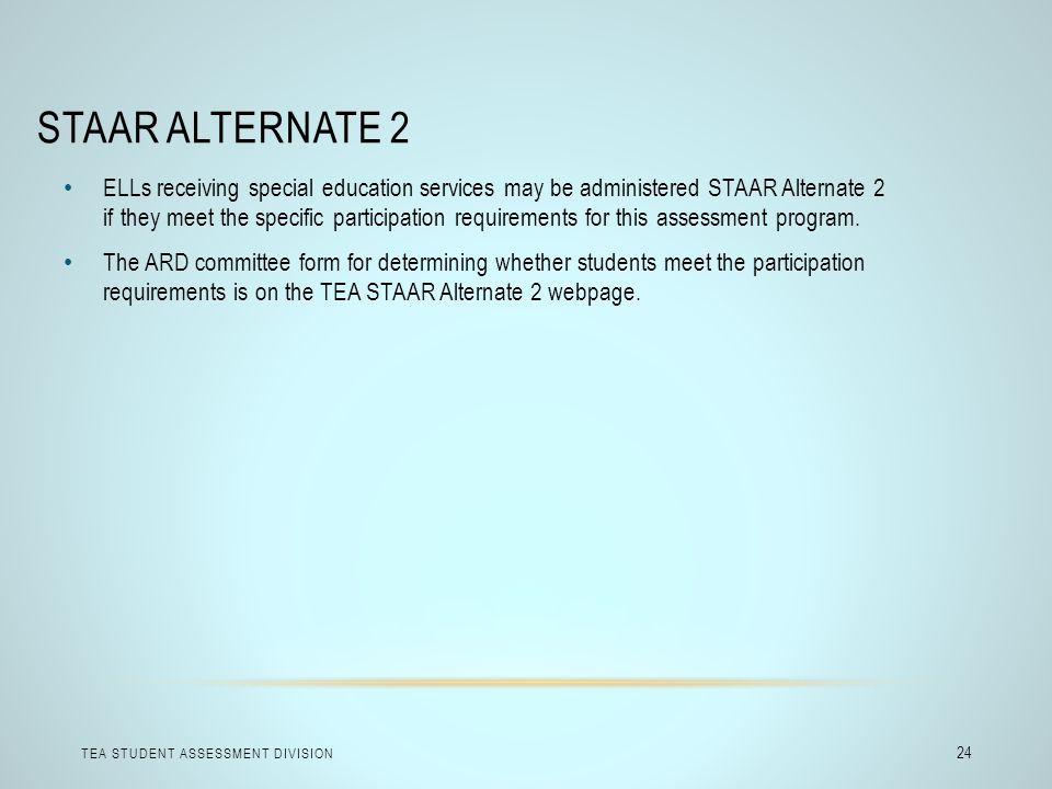 STAAR Alternate 2