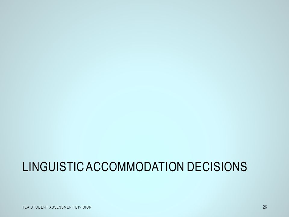 Linguistic Accommodation Decisions