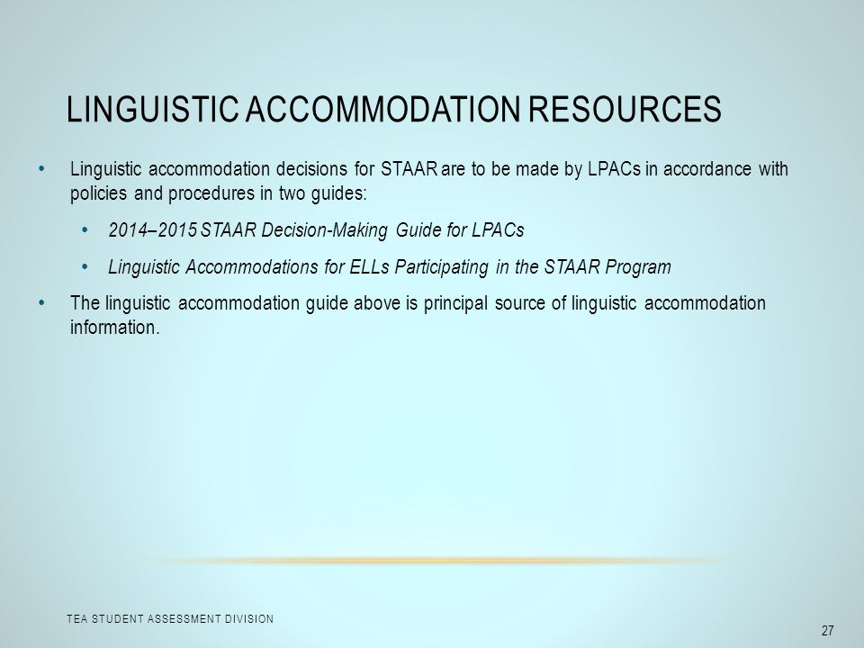 Linguistic Accommodation Resources