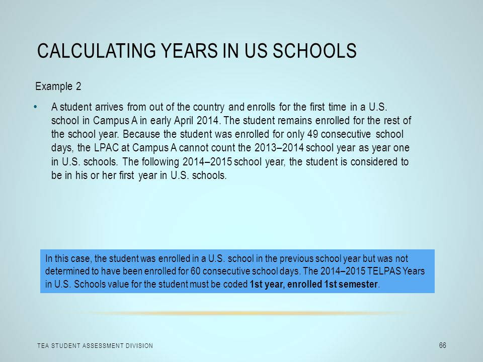 Calculating Years in US Schools