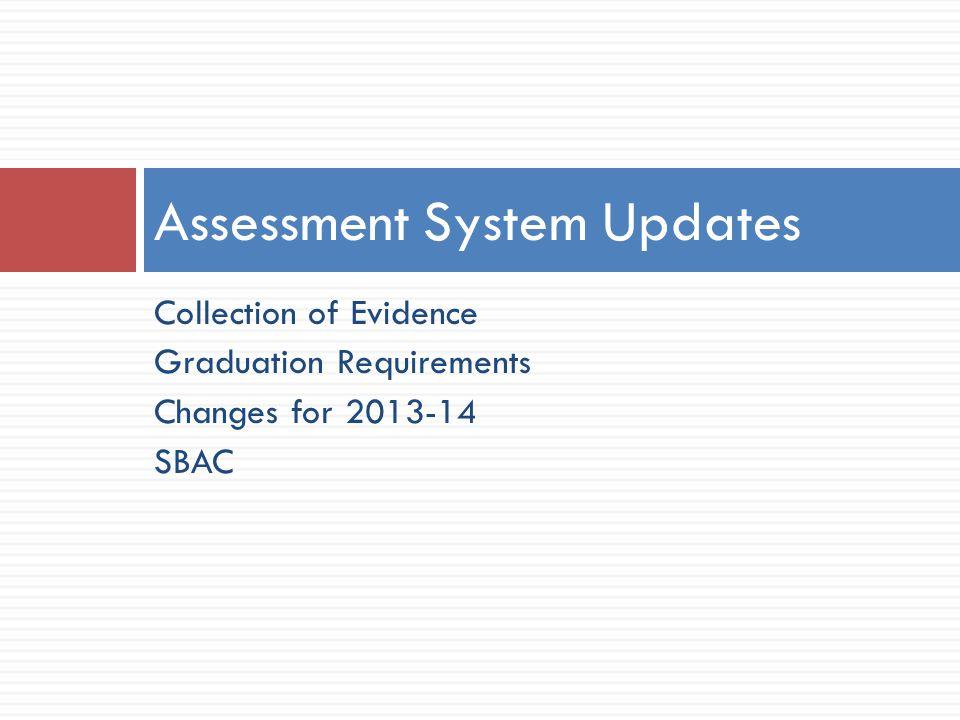 Assessment System Updates