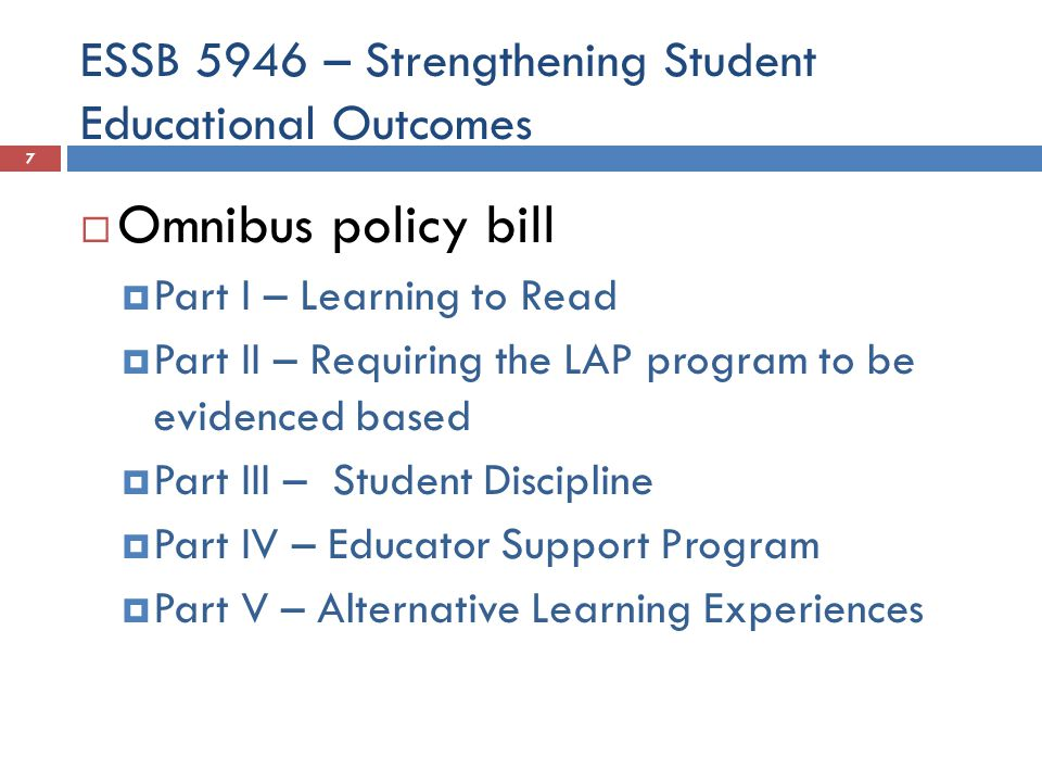 ESSB 5946 – Strengthening Student Educational Outcomes