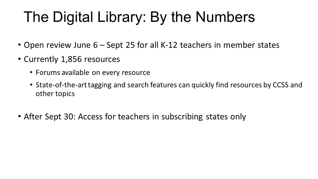 The Digital Library: By the Numbers