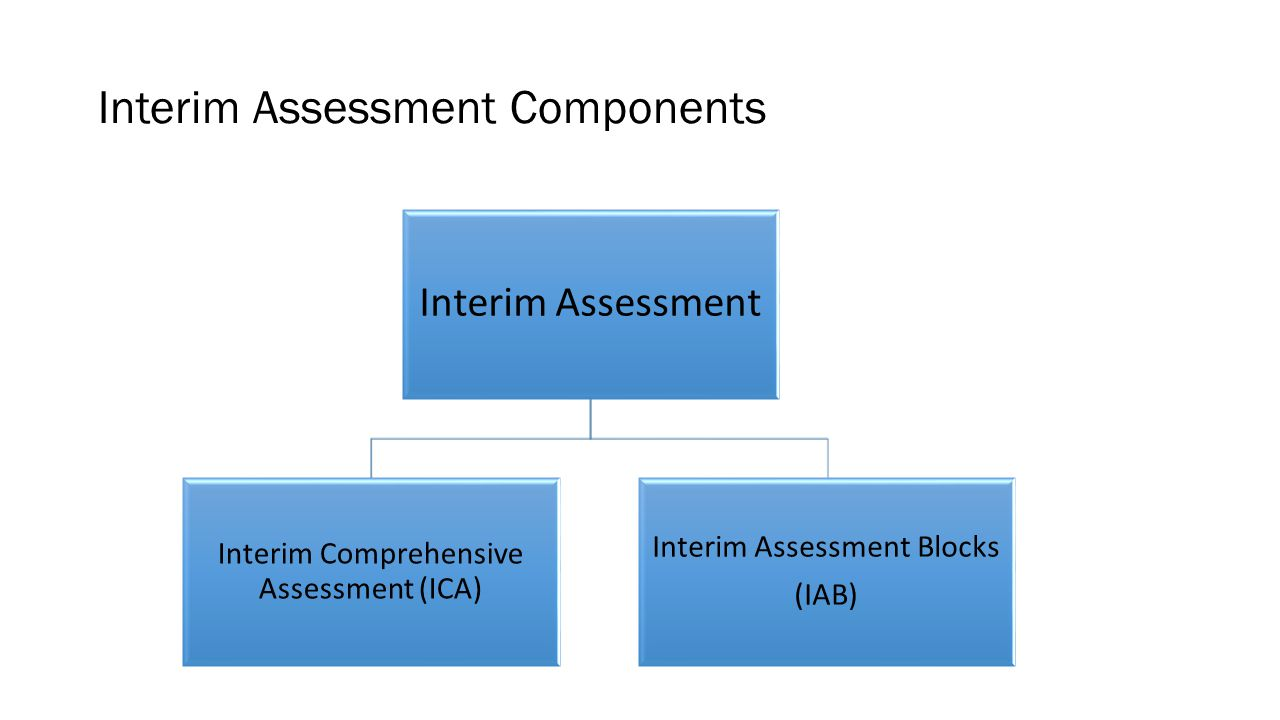 Interim Assessment Components