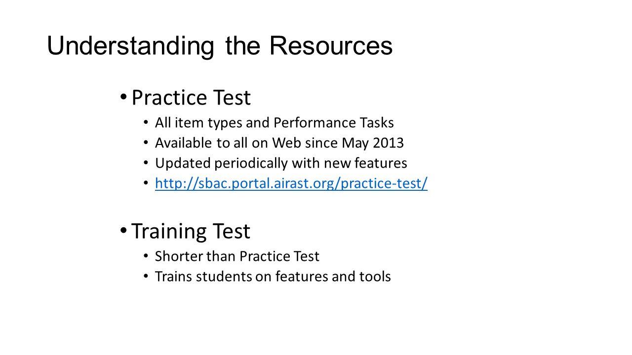 Understanding the Resources