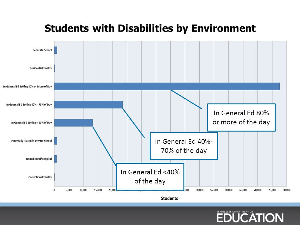 Students with Disabilities by Environment