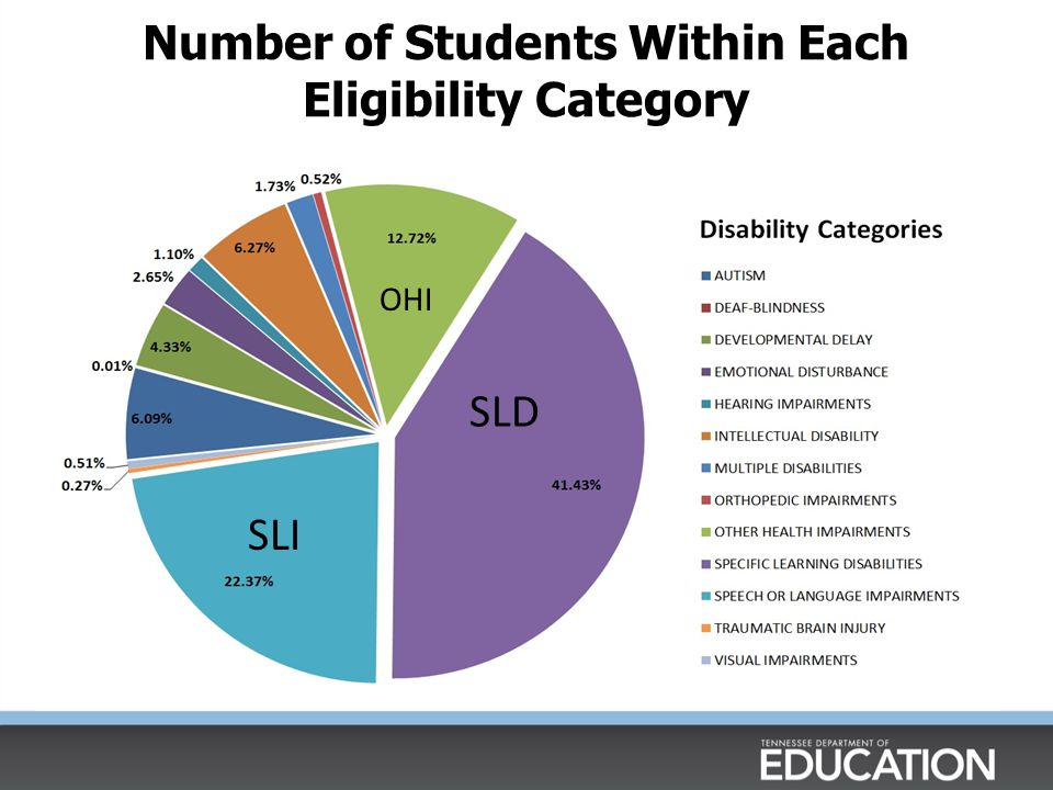 Number of Students Within Each Eligibility Category