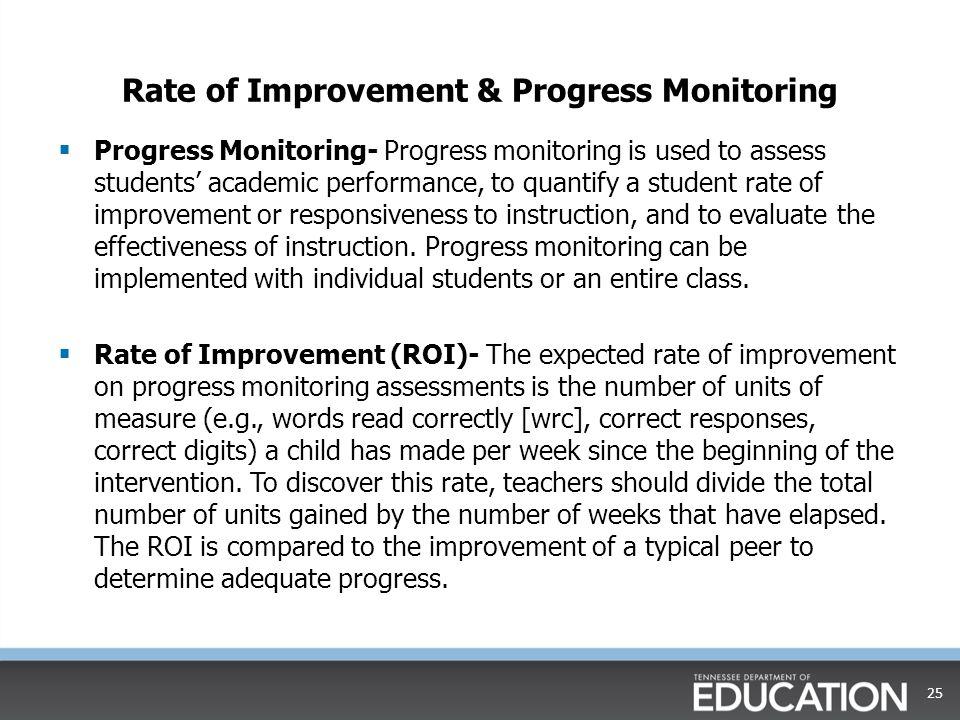 Rate of Improvement & Progress Monitoring