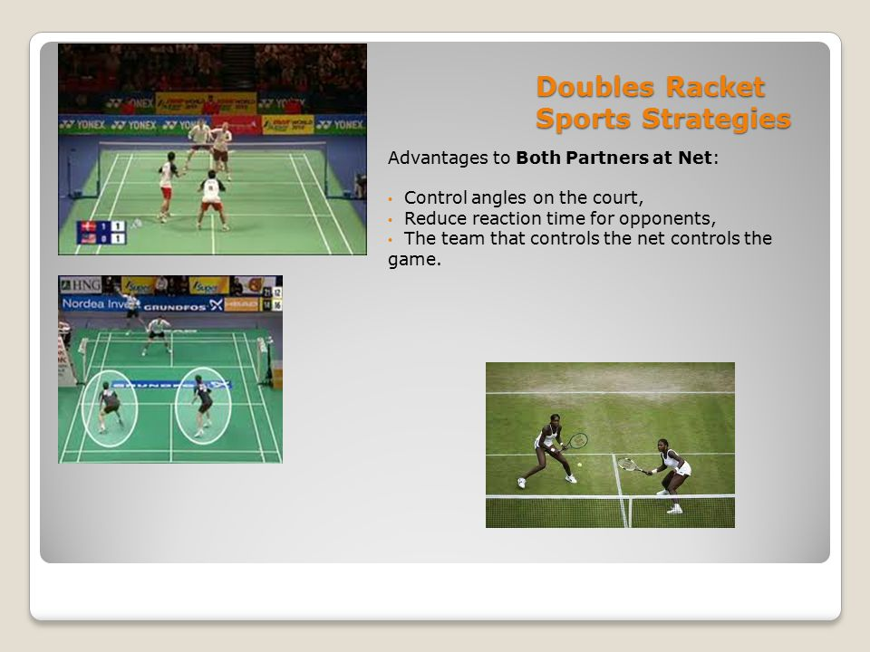 Doubles Racket Sports Strategies